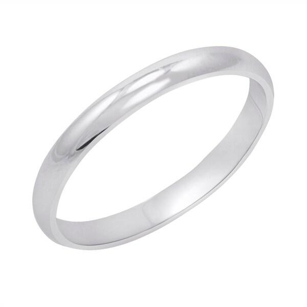 Amanda Rose Women X27 S 14k White Gold 2mm Clic Fit Plain Wedding Band