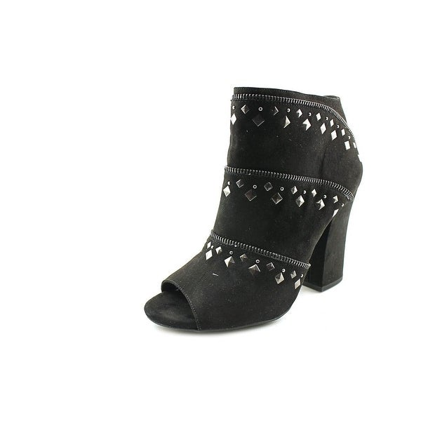 Jessica Simpson Midara Peep-Toe Synthetic Bootie
