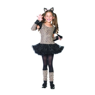 6b81b00a40bd Shop Little Leopard Girls Child Leopard Halloween Costume - Free Shipping  On Orders Over $45 - Overstock - 14672896