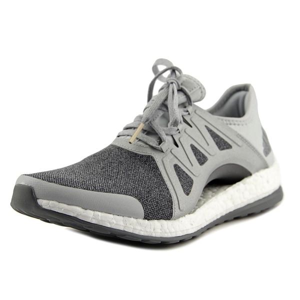 409ef1c19 Shop Adidas PureBoost Xpose Women Round Toe Canvas Gray Running Shoe ...