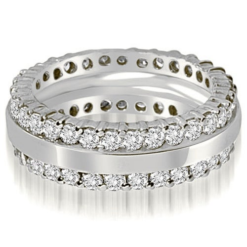 1.75 cttw. 14K White Gold Round Prong Diamond Eternity Ring