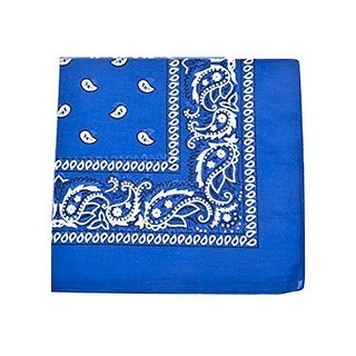 8 Pack XL Non Fading Paisley 100% Polyester Bandanas 27 x 27 in - Bulk Wholesale - One Size Fits Most