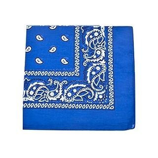 Link to Pack of 7 XL Non Fading Paisley Polyester Bandanas 27 x 27 In - Bulk - One Size Fits Most Similar Items in Hair Accessories