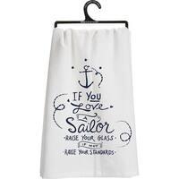 Military Flour Sack Kitchen Towel - Sailor (Navy)