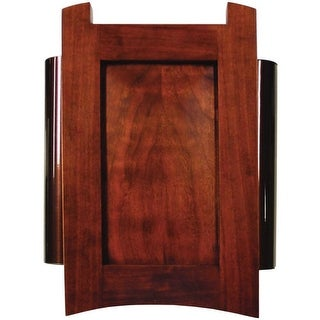 Heath Zenith 56 Wired Doorbell Chime, Solid Cherry Mahogany Finish Cover with Oi