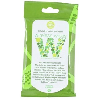 Wireless Wipe Anti-Bacterial Mobile Device Towelettes - Rosemary Peppermint