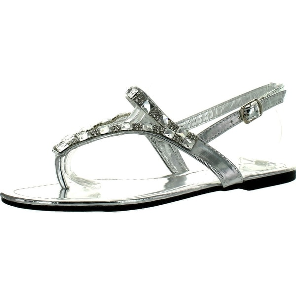 Diviana Moira-09A Womens Round Toe Sling Back Thong Sandals