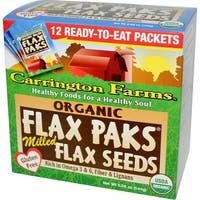 Carrington Farms Organic Milled Flax Seeds - Case of 6 - 0.42 oz.