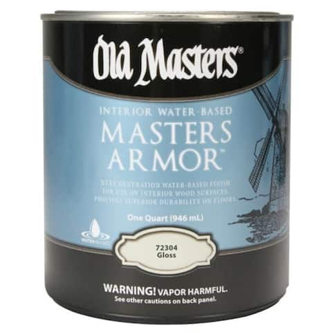 Old Masters 72304 Masters Armor Interior Water-Based Wood Finish, Gloss, 1-Qt