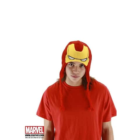 The Avengers Iron Man Costume Knit Laplander Hat - Red