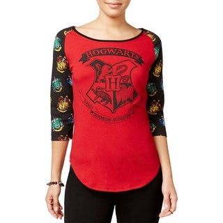 Harry Potter Womens Juniors Baseball Tee Graphic Raglan Sleeves