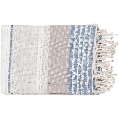 Nita Coastal Hand-woven Blended Cotton Throw