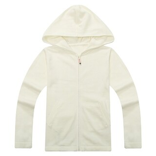 Richie House Girls' Hooded Cardigan with Insert Pockets