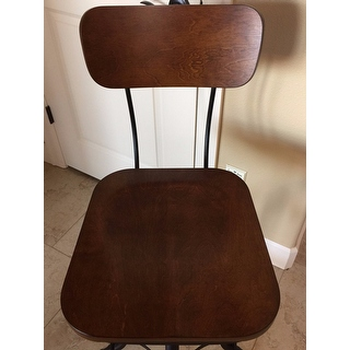 Jarie Black Chestnut Metal Wood Adjustable Stool Free
