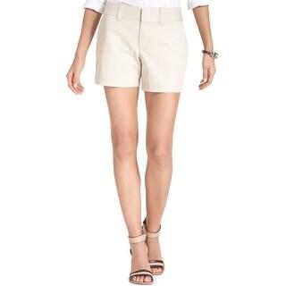 Tommy Hilfiger NEW Beige Womens Size 12 Four Pocket Khaki Chino Shorts