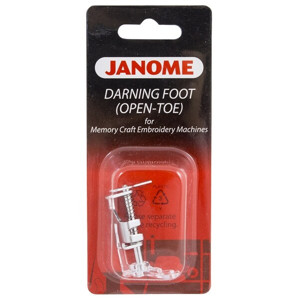 Janome Memory Craft Embroidery Machine - Darning Foot (Open Toe)