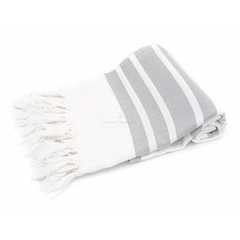 Eco friendly Turkish Towel Aegean Stripe Large Towel,Beach Towel,Pool Towel,Yoga Towel,Fouta,Bath Towel,Gray