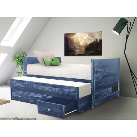Taylor & Olive Begonia Twin Bed with Twin Trundle & 3 Built in Drawers