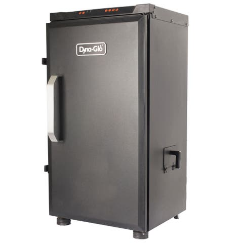 "Dyna-Glo DGU732BDE-D 19"" Wide Free Standing Electric Smoker with Built In Meat Thermometer - - Black"
