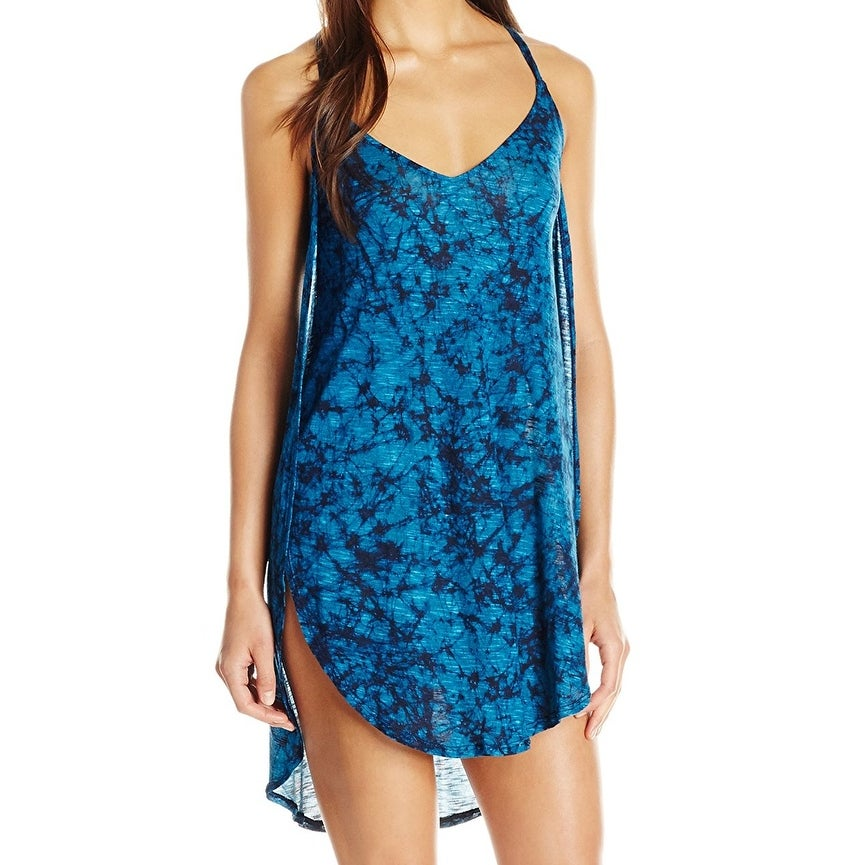 7153bb495f4 Shop Lucky Brand Blue Womens Size Small S Batik Chic Knit Tulip Cover-Up -  On Sale - Free Shipping On Orders Over $45 - Overstock - 27979727