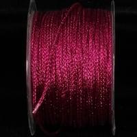 Sparkling Fuchsia Pink Metallic Craft Glitter Chain 3mm x 110 Yards