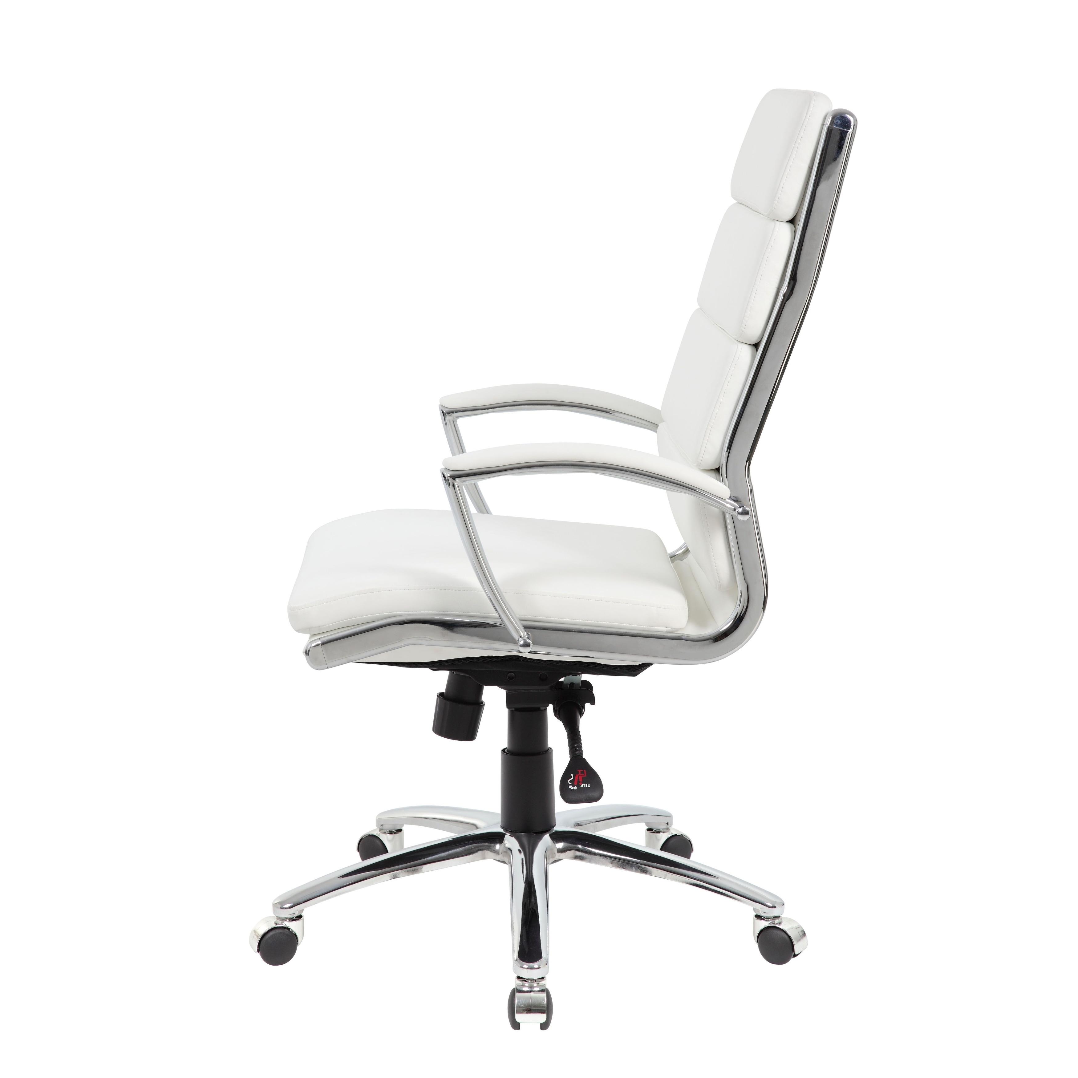 Boss Caressoftplus Chrome Finish Executive Chair Overstock 10099935