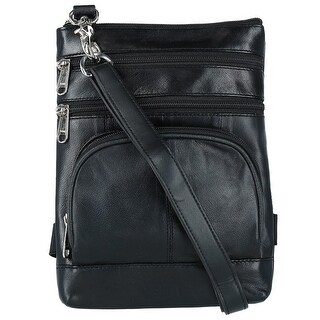 CTM® Leather Biker Hook Waist Belt Bag with Thigh Strap - One size
