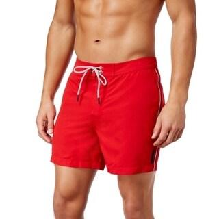 Michael Kors NEW Red Mens Size XL Board Surf Drawstring Solid Shorts