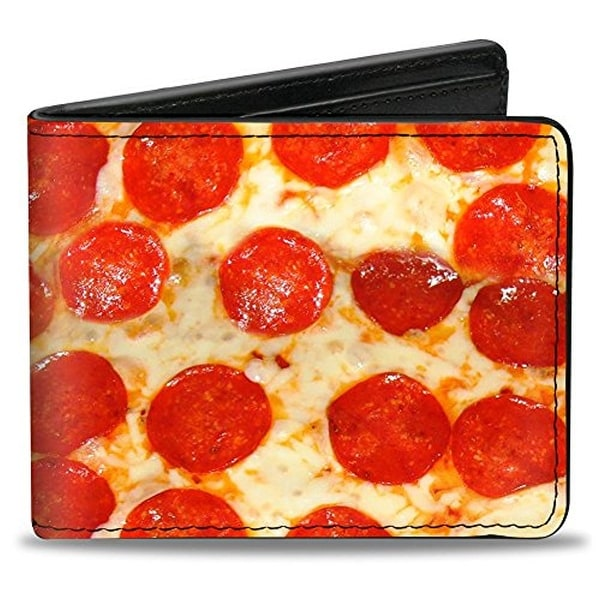 Buckle-Down Bifold Wallet Pizza