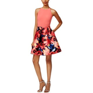Adrianna Papell Womens Semi-Formal Dress Pleated Floral (4 options available)