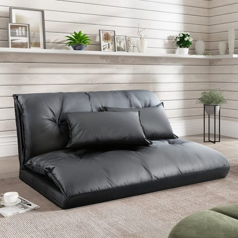 Two Pillows Sofa Bed Folding Futon Sofa Bed