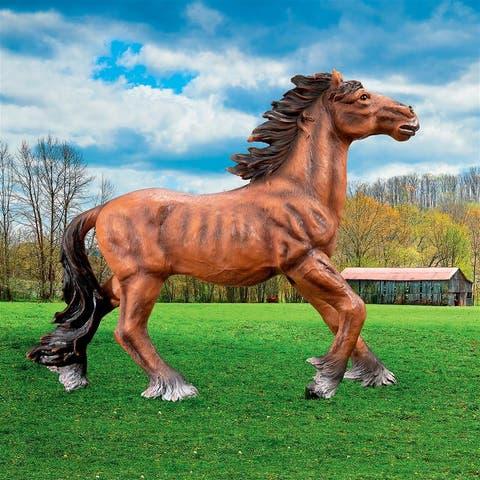 Design Toscano Unbridled Running Wild Mustang Horse Statue