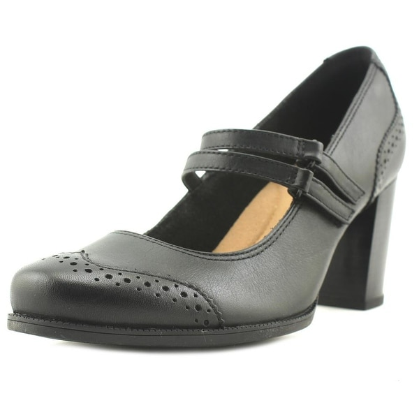 Clarks Claeson Tilly Women Round Toe Leather Black Mary Janes