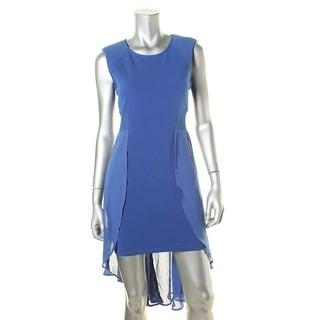 Material Girl Womens Juniors Sleeveless Hi-Low Party Dress - M