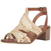 Rampage Womens halsy Open Toe Casual Ankle Strap Sandals