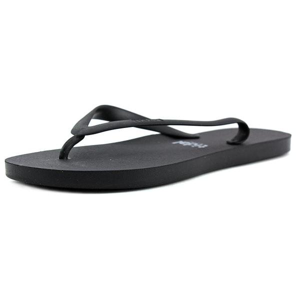 Tidal Basis Women Open Toe Synthetic Black Flip Flop Sandal