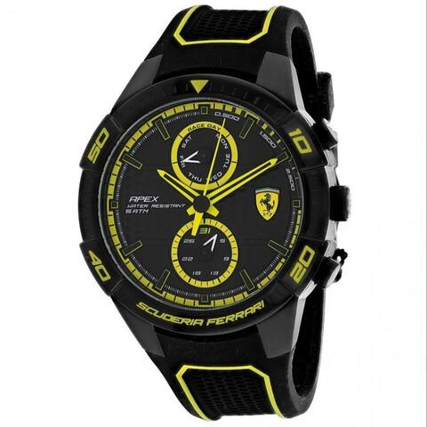 Ferrari Men's 830633 'Scuderia' Black Silicone Watch