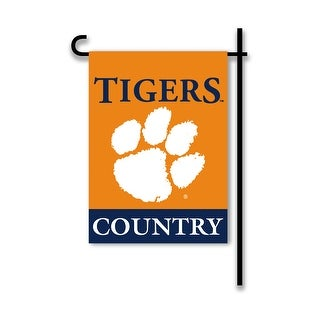 Clemson University Tigers Country Garden Flag