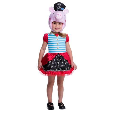 Peppa Pig Pirate Child Costume - Pink