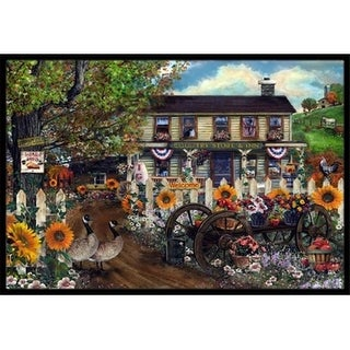 Carolines Treasures PTW2016JMAT Sunflowers And The Old Country Store Indoor & Outdoor Mat 24 x 36 in.