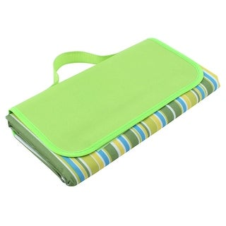 Outdoor Water Resistant Traveling Camping Mat Picnic Blanket Green 180 x 150cm