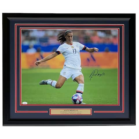 Alex Morgan Signed Framed Team USA 16x20 Photo JSA