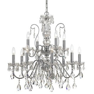 Link to Butler 12 Light Clear Crystal Chrome Chandelier - 29'' W x 29'' H Similar Items in Chandeliers