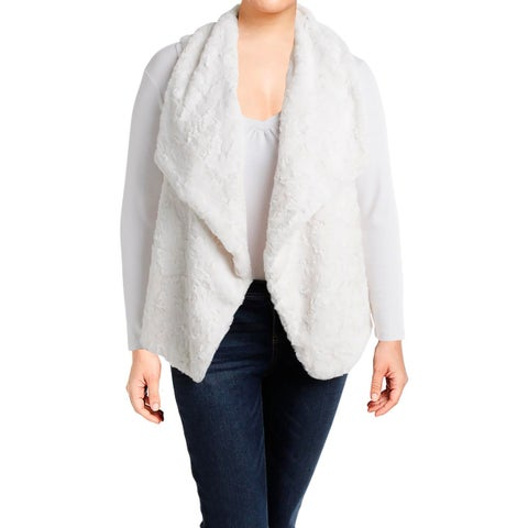 Karen Kane Womens Casual Vest Open Front Shawl Collar
