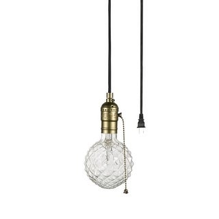 "Globe Electric 65446 Edison Single Light 1-3/8"" Wide Plug-In Pendant"