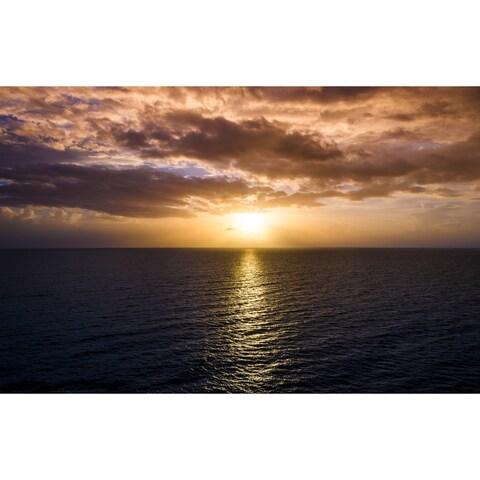 Sunset And Ocean Photograph Art Print
