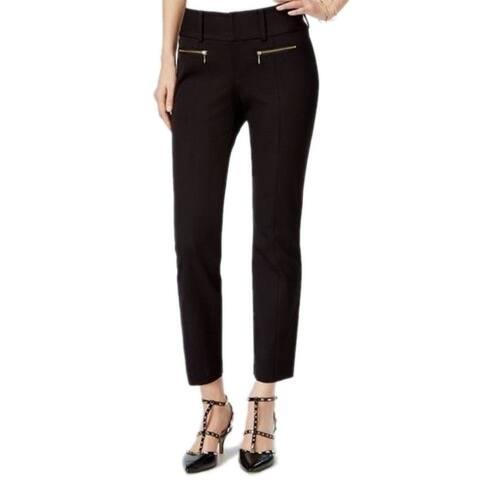 INC International Concepts Women's Black Cropped Zip-pocket Pants (2)