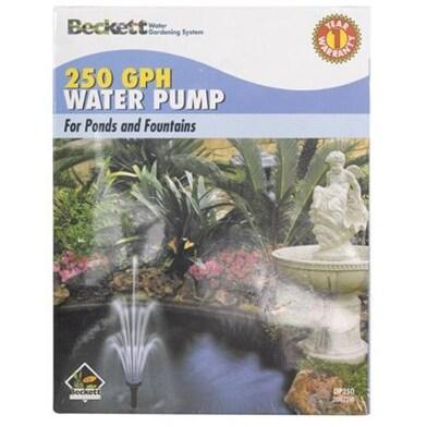 Beckett 7300310 Pond & Fountain Pump, 250 GPH