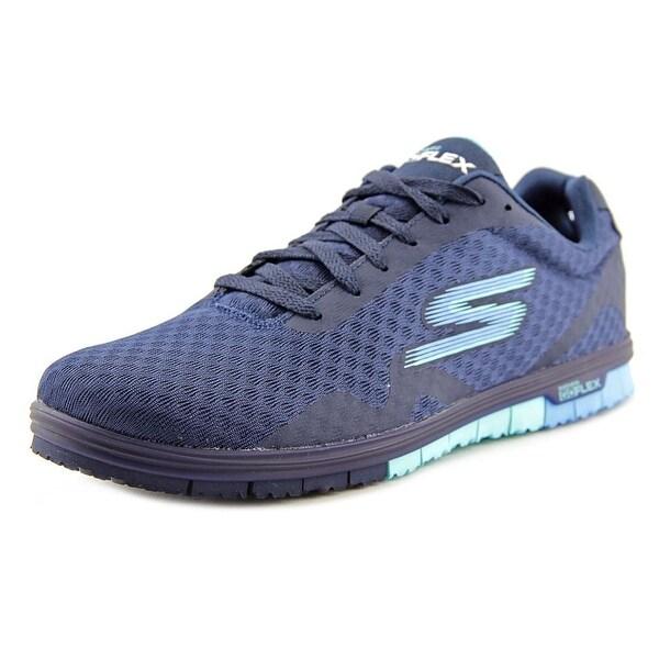 Skechers Go Mini Flex - Speedy Women Round Toe Synthetic Blue Walking Shoe