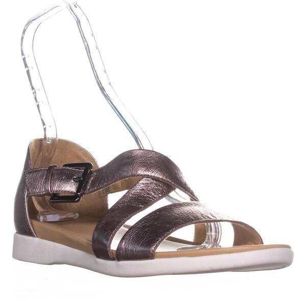 naturalizer Elliott Ankle Strap Flat Sandals , Lilac Leather